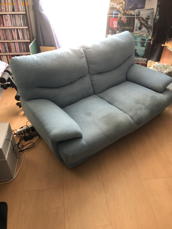 【栗東市】二人掛けソファーの回収・処分ご依頼 お客様の声