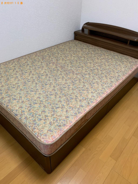 【守山市小島町】ダブルベッド、ベッドマットレスの回収・処分ご依頼