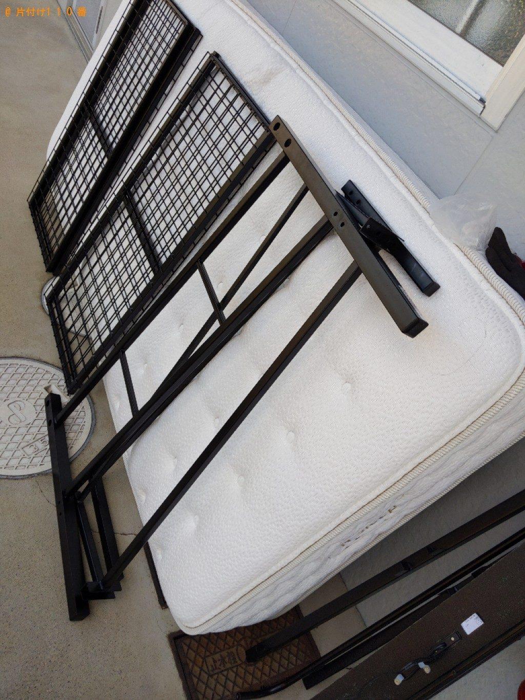 【野洲市】シングルベッド、ベッドマットレスの回収・処分ご依頼