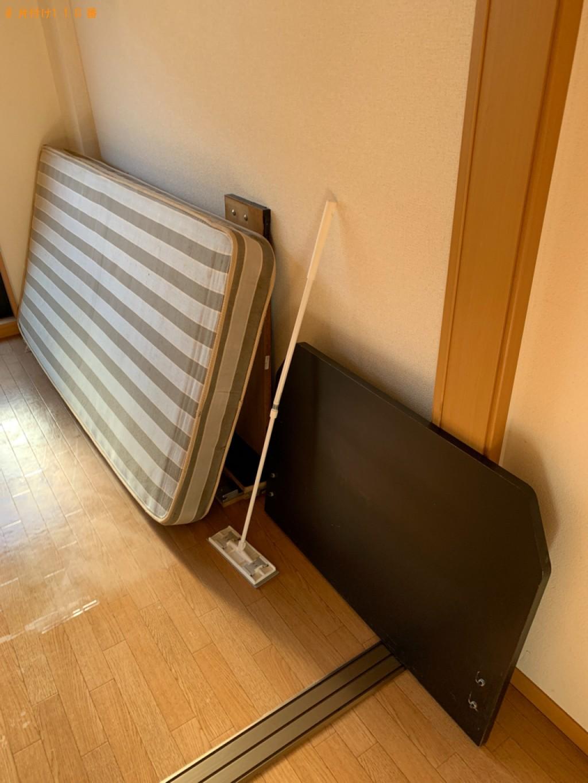 【大津市】マットレス付きシングルベッドの回収・処分ご依頼