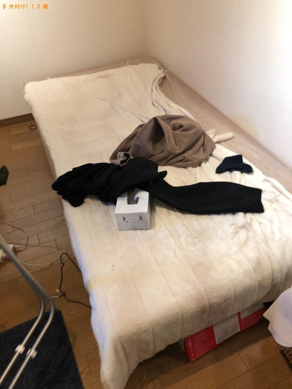 【草津市】クローゼット、マットレス付きシングルベッドの回収・処分