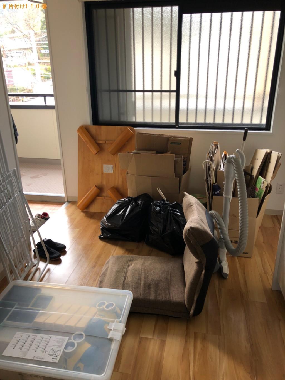 【大津市】カラーボックス、椅子等の回収とハウスクリーニングご依頼