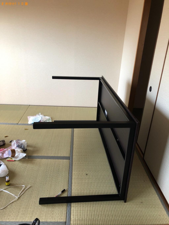 【草津市野路町】6人用ダイニングテーブル、椅子の回収・処分ご依頼