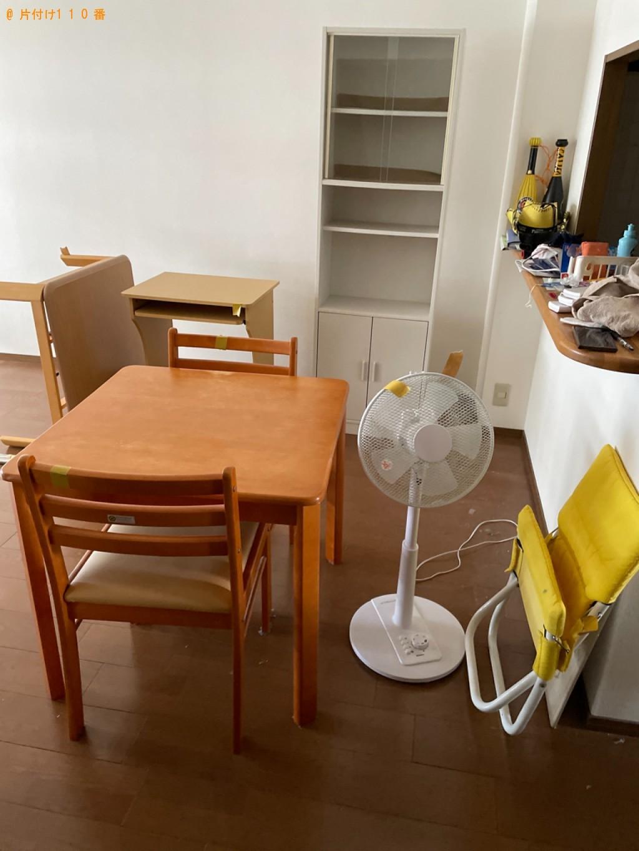 【栗東市】食器棚、ダイニングテーブル、こたつ、扇風機等の回収