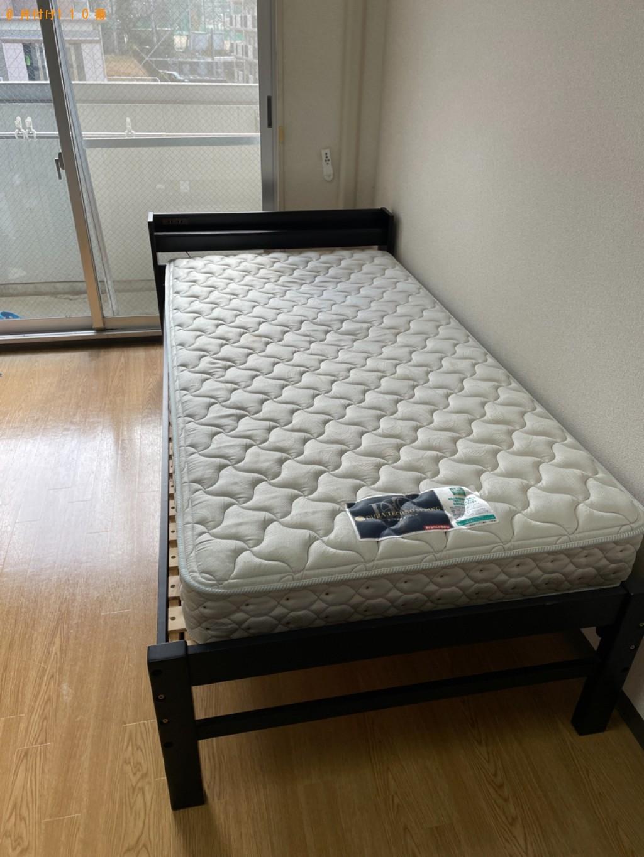 【草津市】マットレス付きシングルベッドの回収・処分ご依頼