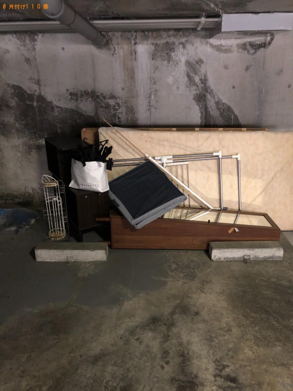 【草津市】本棚、マットレス付きシングルベッドの回収・処分ご依頼