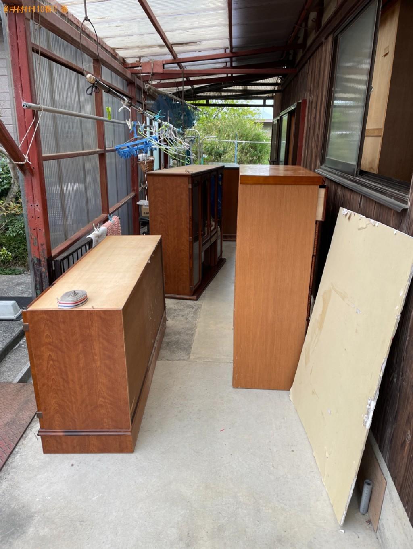 【野洲市】食器棚、テレビ台、下駄箱、婚礼ダンス等の回収・処分