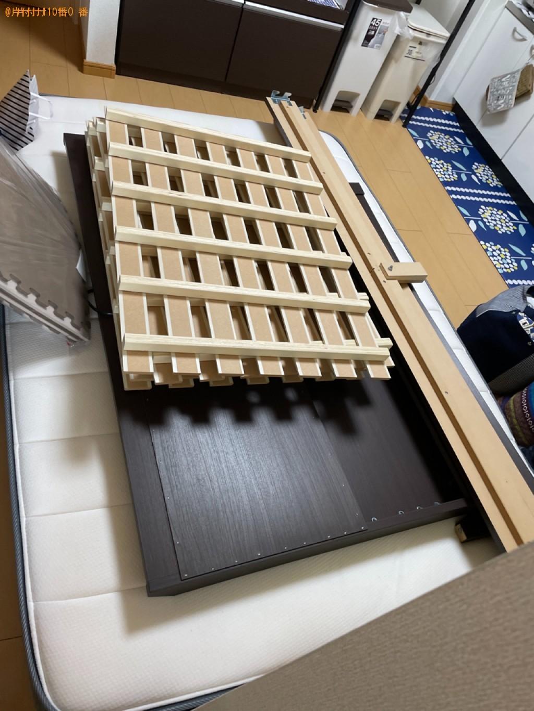 【守山市播磨田町】マットレス付きダブルベッドの回収・処分ご依頼