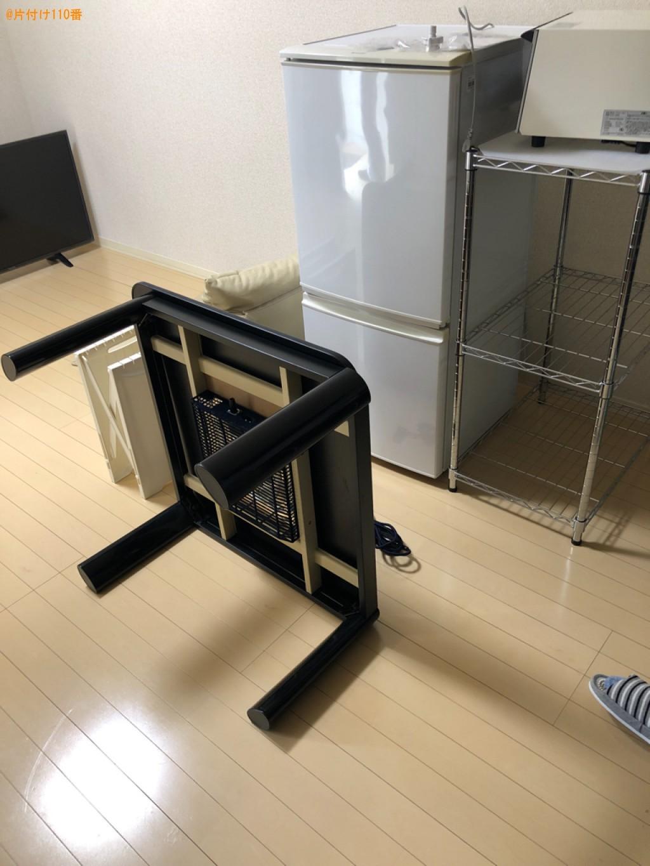 【東近江市】冷蔵庫、洗濯機、こたつ、カラーボックス、椅子等の回収