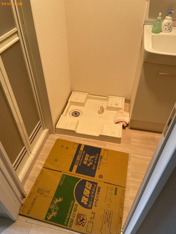 【大津市】洗濯機、折り畳みベッド、PCデスク、ガスコンロの回収