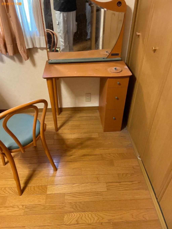 【草津市青地町】鏡台、マットレス付きダブルベッド、椅子等の回収