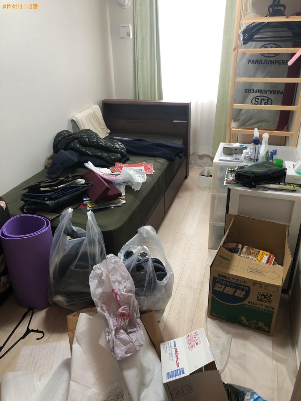 【草津市】マットレス付きシングルベッド、衣装ケース等の回収・処分