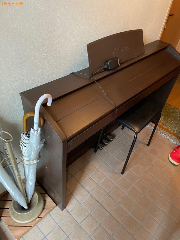 【大津市】電子ピアノ、椅子の回収・処分ご依頼 お客様の声