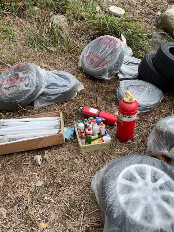 【大津市】自動車タイヤ、スプレー缶、消火器、蛍光灯等の回収・処分